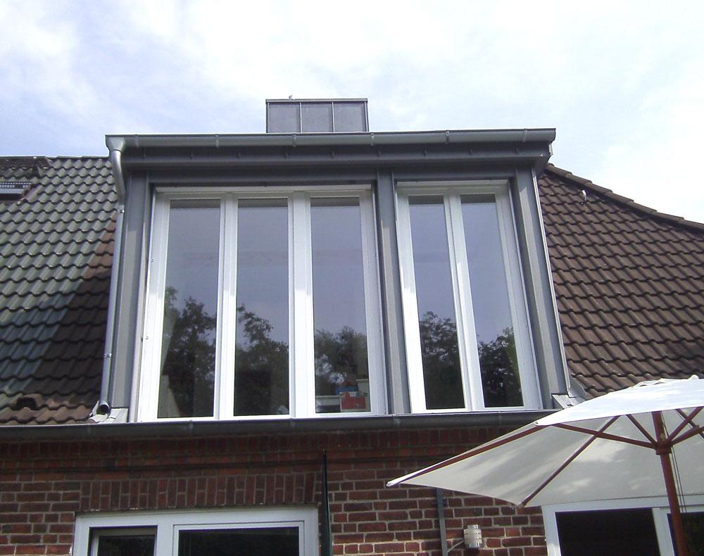 Balkonaustrittsgauben Dachwerk Nord