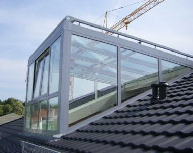 Die Glasgaube bietet die größte Lichtausbeute für Dachgeschosse