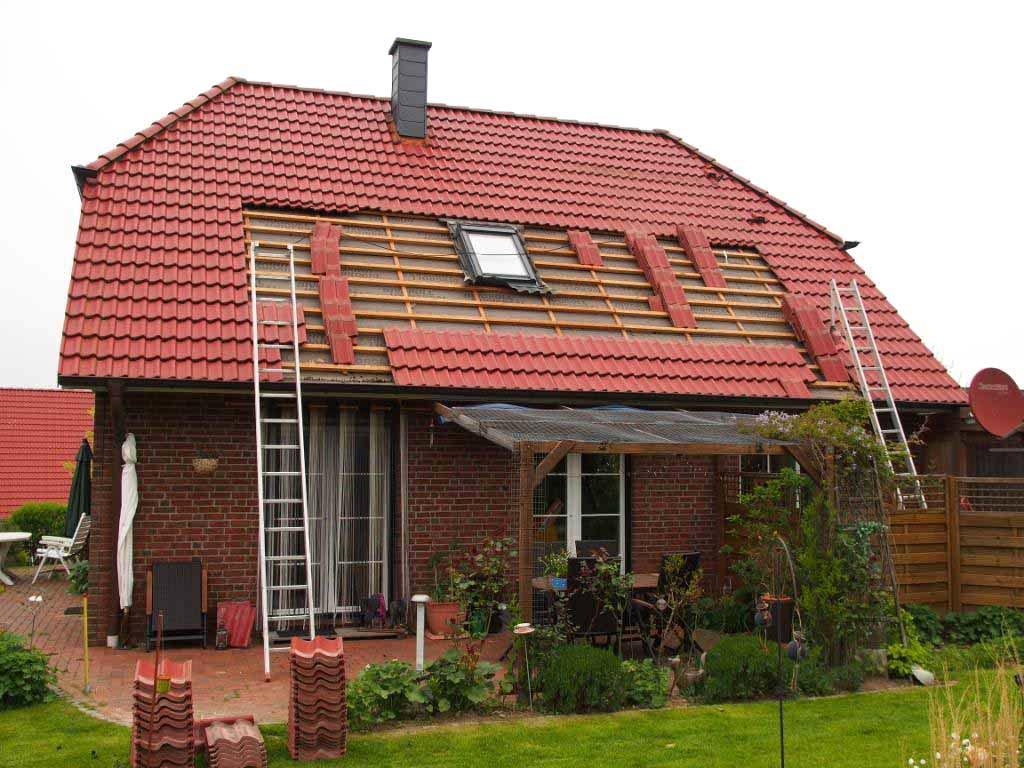Das Dach wird vorbereitet