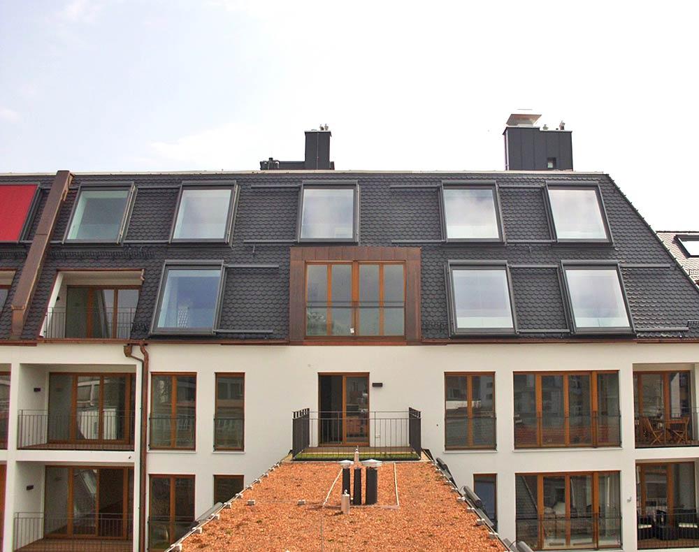 In der Anordnung als Gruppe wird das Lideko Classic zum bestimmenden Merkmal des Daches