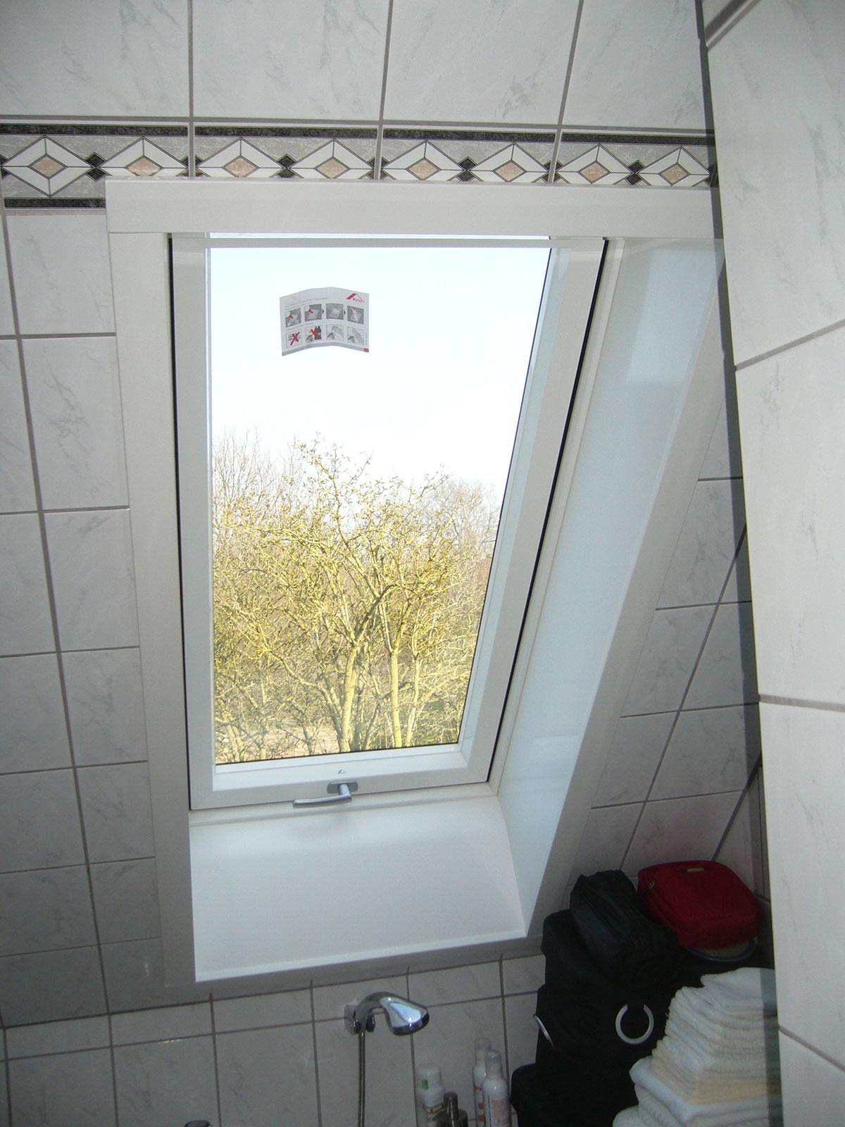 Dachfenster Bad nachher